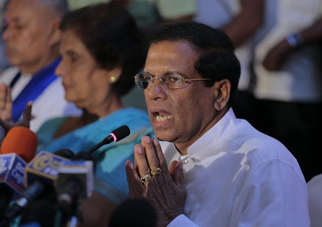 Maithripala Sirisena, presidente de Sri Lanka (archivo)