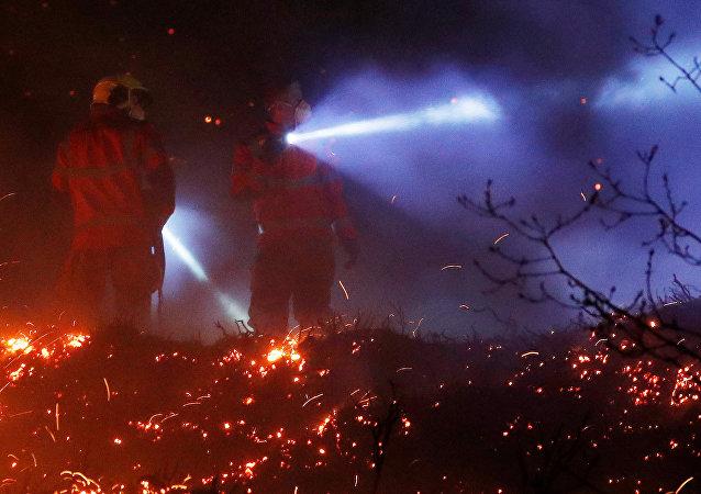 Incendios forestales en Gran Bretaña