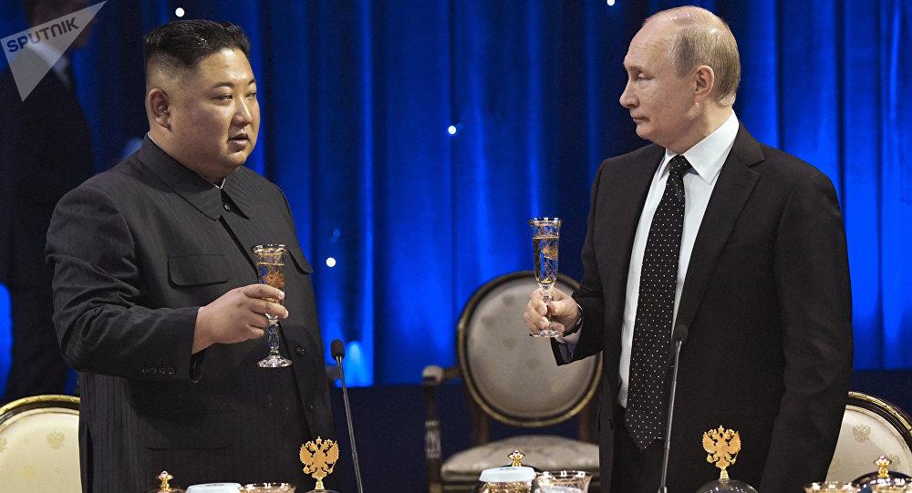 Putin y Kim mantienen una reunión histórica en Vladivostok (archivo)