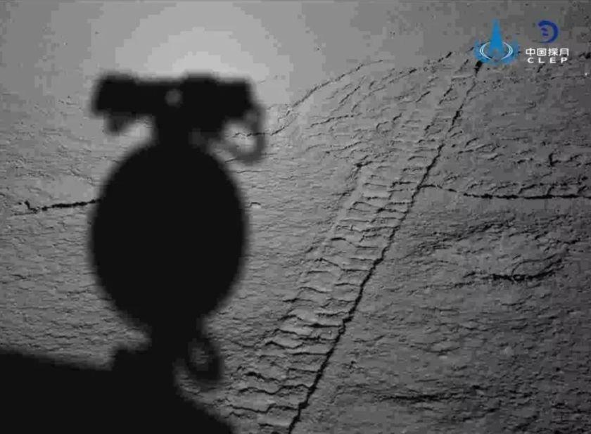 La sombra de Yutu 2 sobre la cara oculta de la Luna