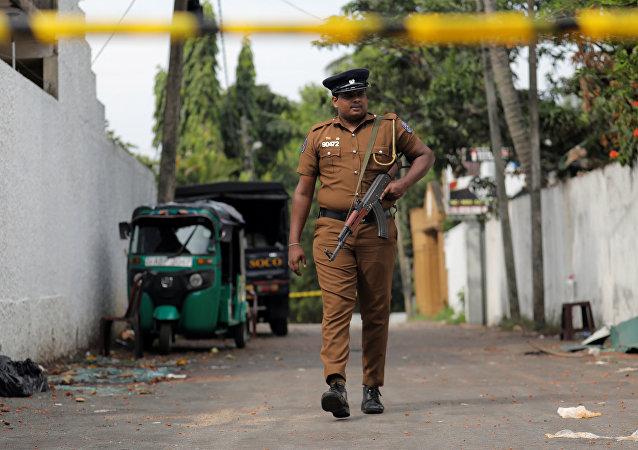 Un policía esrilanqués