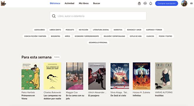 La plataforma Bookmate es intuitiva y tiene material de las más variadas casas de edición