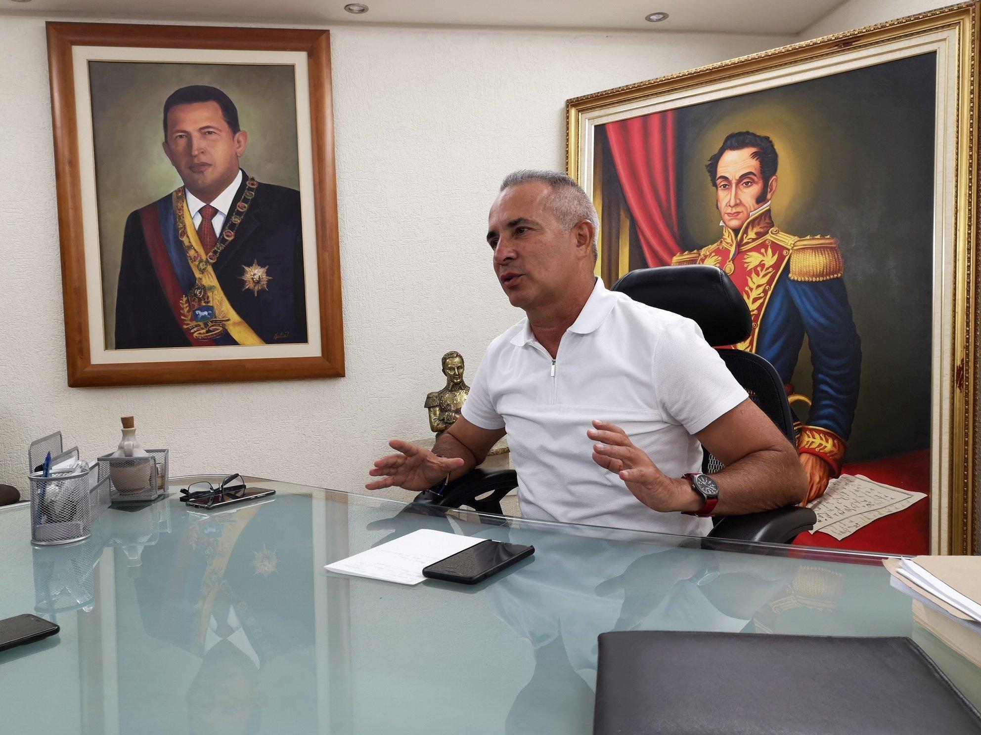 Freddy Bernal, miembro de la dirección nacional del Partido Socialista Unido de Venezuela