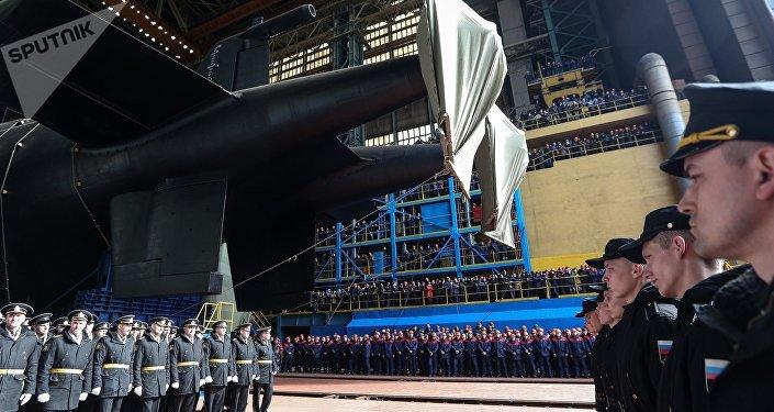 La botadura del submarino Belgorod, portador del Poseidon