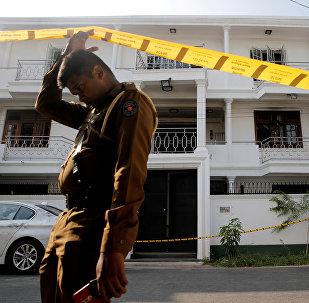 Militares en las calles de Colombo, Sri Lanka