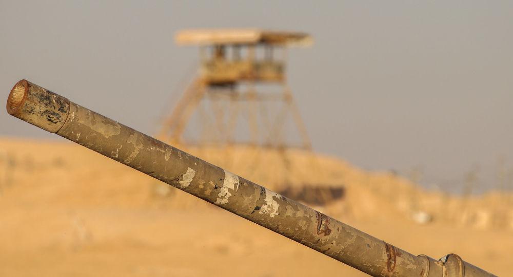 Un cañón de tanque, imagen referencial