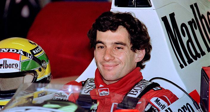 El piloto brasileño Ayrton Senna