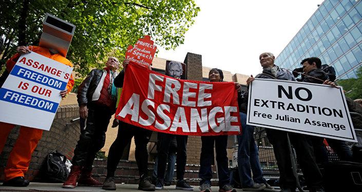 Los simpatizantes del ciberactivista Julian Assange