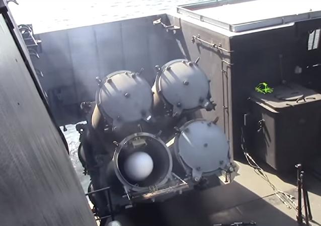 El lanzamiento de misil antibuque del sistema Uran