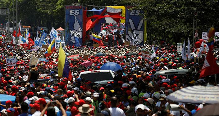 Una marcha en Caracas, Venezuela