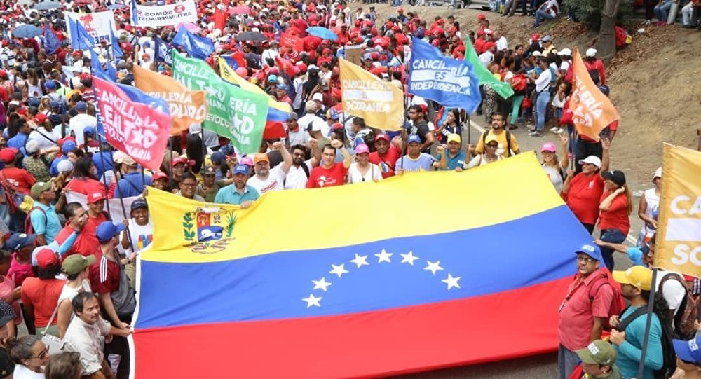 Marcha chavista en Caracas, Venezuela (archivo)