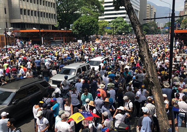 La marcha opositora en Caracas, Venezuela (archivo)