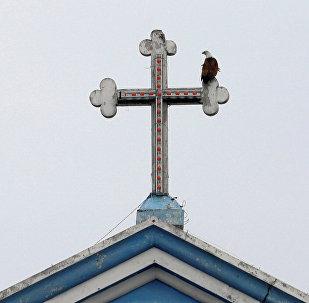 La iglesia de Santa María en Batticaloa, Sri Lanka