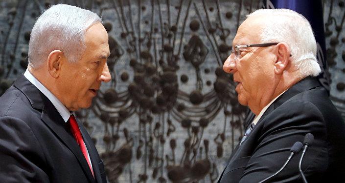 El primer ministro Benjamín Netanyahu y el presidente de Israel, Reuvén Rivlin
