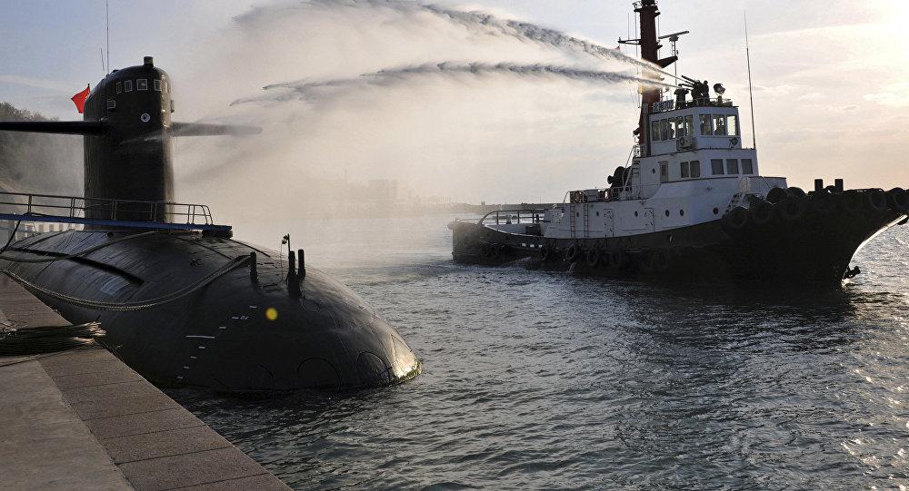 Un submarino nuclear chino