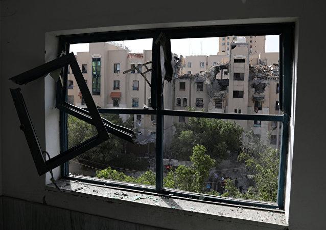 Situación en la Franja de Gaza tras un ataque israelí