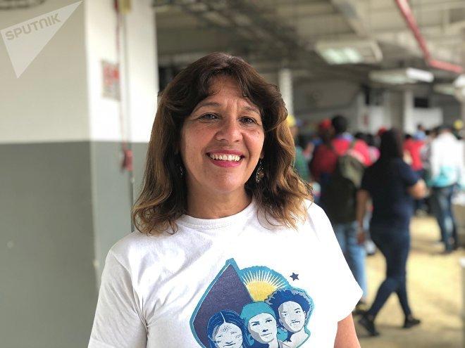 Anahí señala el rol fundamental que tienen las mujeres en la Revolución bolivariana, en un país donde el machismo es aún muy fuerte