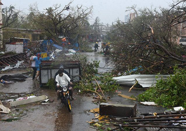 Así quedó la parte oriental de la India tras el ciclón Fani