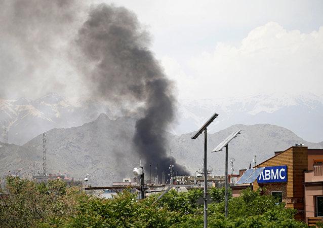Una explosión en Kabul, Afganistán