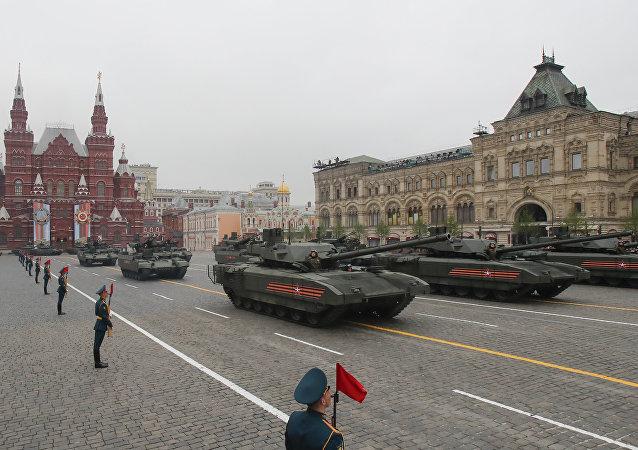 Tanques Armata en el desfile militar