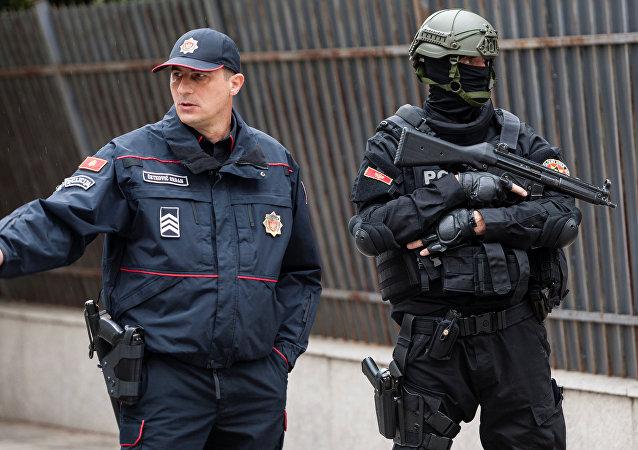 La Policía de Montenegro cerca del Tribunal Supremo de Podgorica