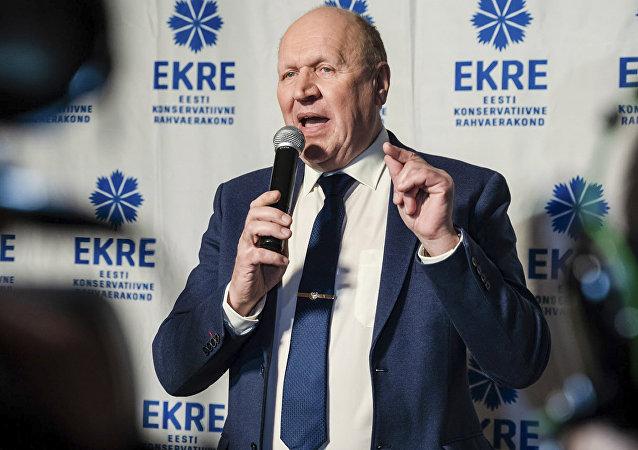 Mart Helme, líder del Partido Popular Conservador