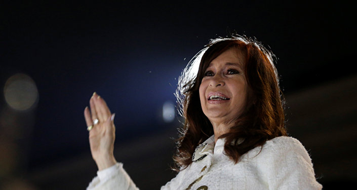 La expresidenta argentina Cristina Fernández de Kirchner