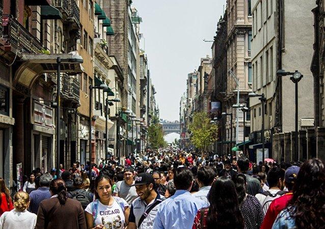 La gente en las calles de Ciudad de México