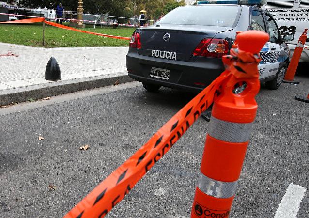 El lugar donde dispararon al diputado Héctor Olivares cerca del Congreso de Argentina