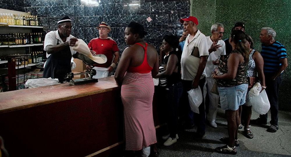 Venta de arroz en Cuba