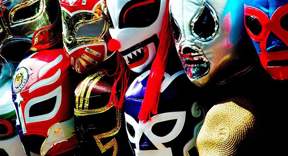 Máscaras de lucha libre mexicana (archivo)