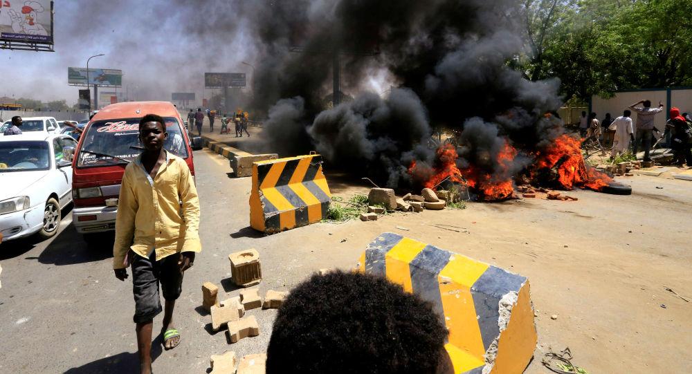 Manifestantes en Sudán
