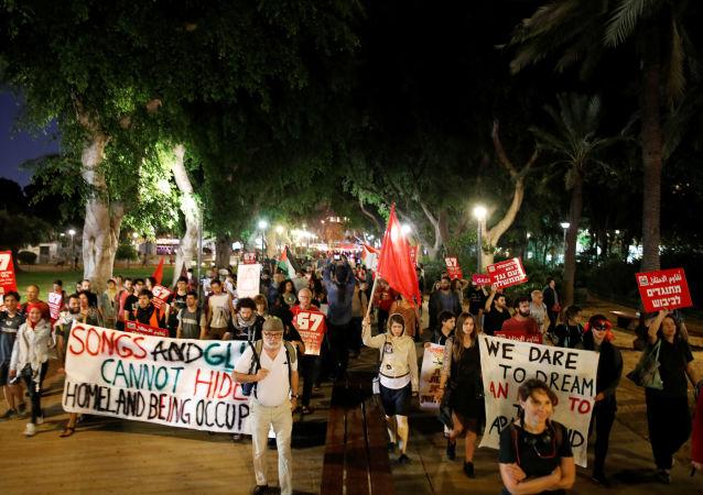 Protesta en Tel Aviv, Israel