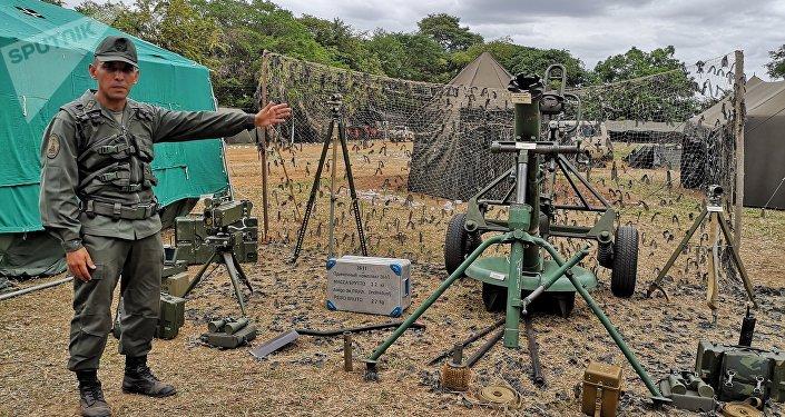 Primer Teniente, Jesús Salcedo. Sistema de Mortero SANI 120 mm. 31 Brigada de Infantería Mecanizada