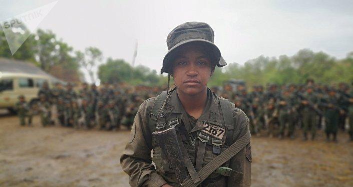 Cadete de la Academia Militar Bolivariana de Venezuela