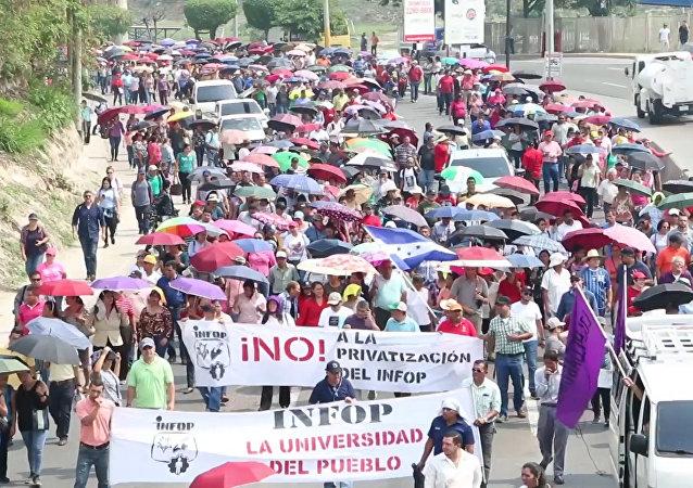 Médicos y maestros continúan las protestas en Honduras