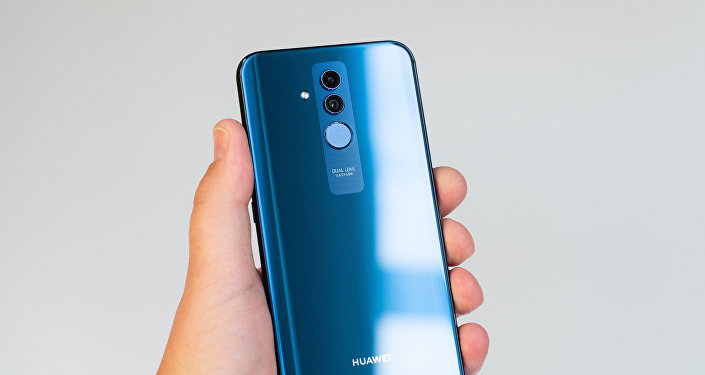 Un smartphone Huawei Mate 20, foto de archivo