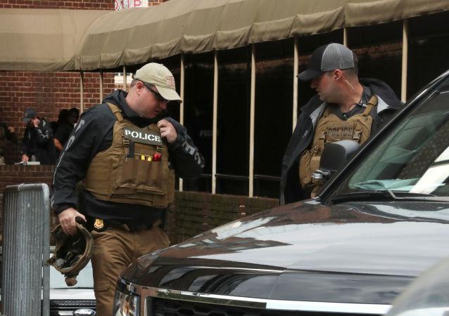 La Policía cerca de la Embajada de Venezuela en EEUU