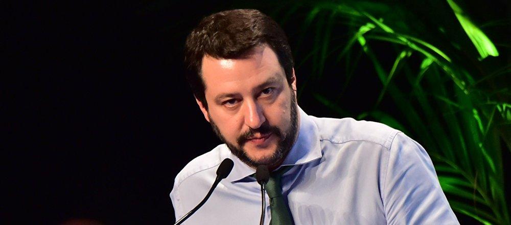 Secretario de Lega Nord Matteo Salvini