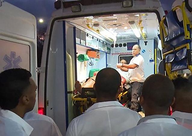 Una ambulancia cubana, referencial