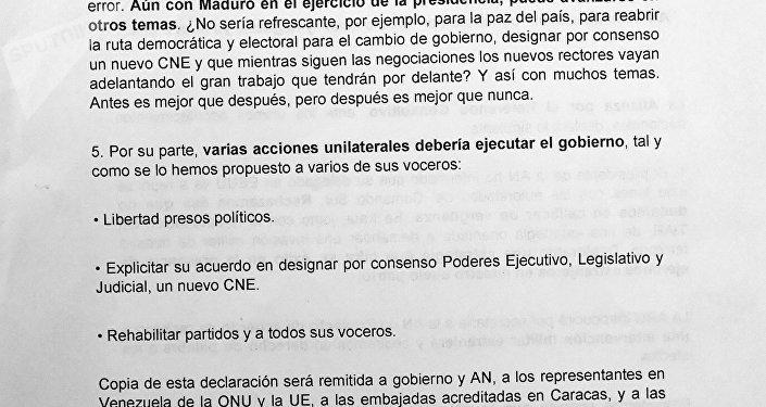 Carta de la Alianza por el Referéndum Consultivo, página 2