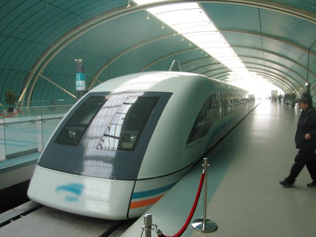 El tren de levitación magnética (Maglev) de Shanghái