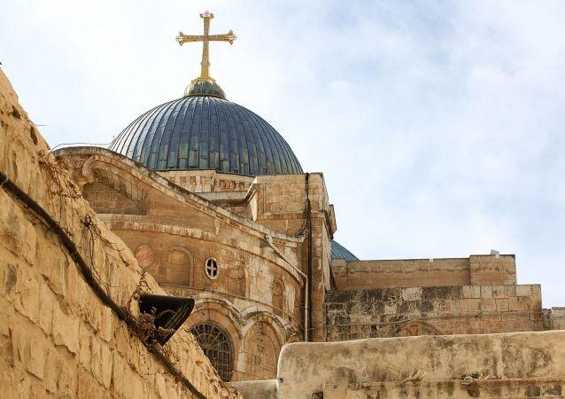 El Santo Sepulcro en la ciudad de Jerusalén