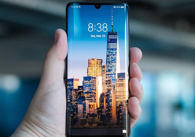 Un teléfono inteligente Huawei, foto de archivo