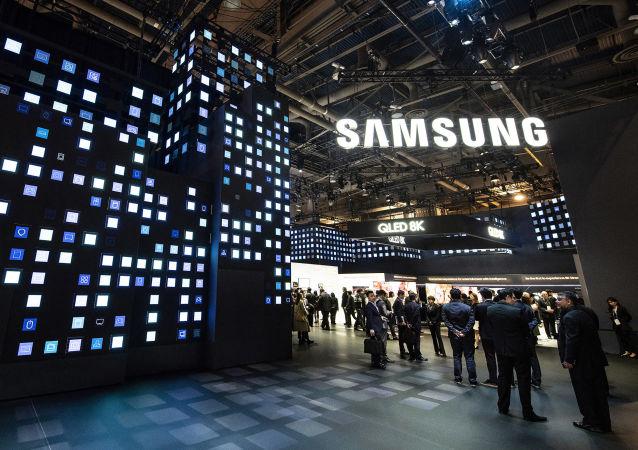 El logo de la empresa Samsung