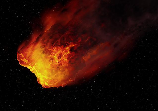 Un meteorito (imagen artística)