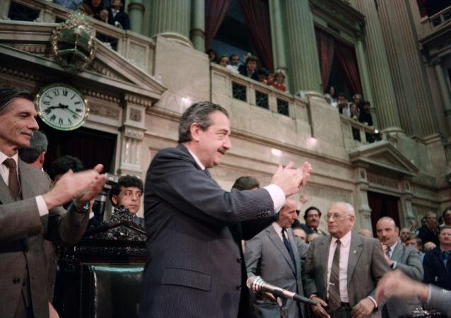 El expresidente de Argentina, Raúl Alfonsín