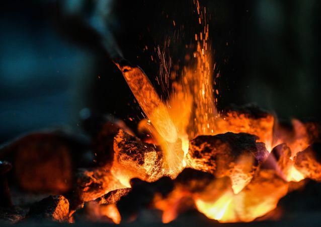 Carbon ardiendo