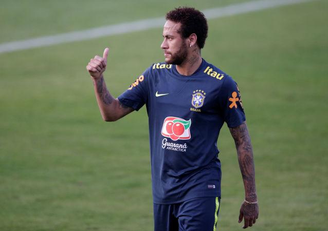 El jugador de fútbol brasileño Neymar