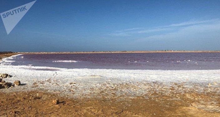 Las salinas rosas de Cumaraguas, en el Estado Falcón, Venezuela